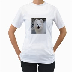 American Eskimo Dog Women s Two-sided T-shirt (White)