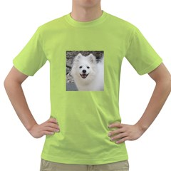 American Eskimo Dog Men s T-shirt (Green)