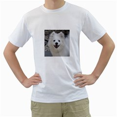 American Eskimo Dog Men s T Shirt (white)