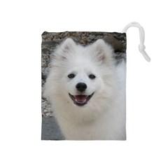 American Eskimo Dog Drawstring Pouch (Medium)