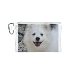 American Eskimo Dog Canvas Cosmetic Bag (Small)