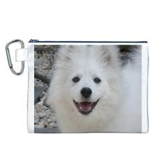 American Eskimo Dog Canvas Cosmetic Bag (Large)