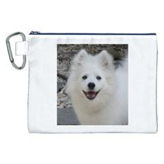 American Eskimo Dog Canvas Cosmetic Bag (XXL)