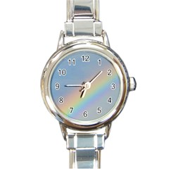 Rainbow Round Italian Charm Watch