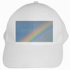 Rainbow White Baseball Cap