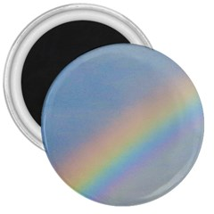 Rainbow 3  Button Magnet
