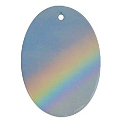 Rainbow Oval Ornament