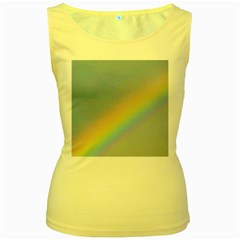 Rainbow Women s Tank Top (Yellow)