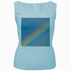 Rainbow Women s Tank Top (Baby Blue)