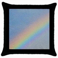 Rainbow Black Throw Pillow Case