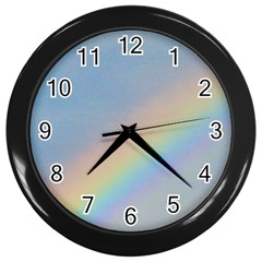 Rainbow Wall Clock (black)