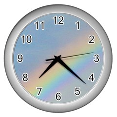 Rainbow Wall Clock (Silver)