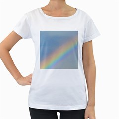 Rainbow Women s Loose-Fit T-Shirt (White)