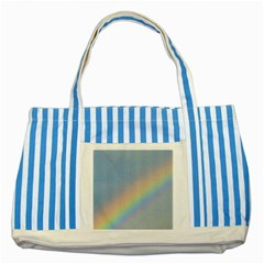 Rainbow Blue Striped Tote Bag