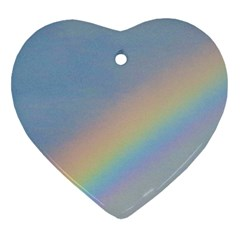 Rainbow Heart Ornament (two Sides)