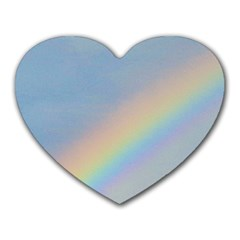 Rainbow Mouse Pad (heart)