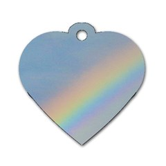 Rainbow Dog Tag Heart (One Sided)