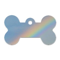 Rainbow Dog Tag Bone (One Sided)