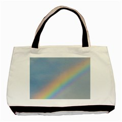 Rainbow Twin Sided Black Tote Bag