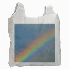 Rainbow White Reusable Bag (two Sides)
