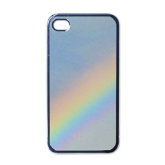 Rainbow Apple Iphone 4 Case (black)
