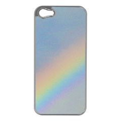 Rainbow Apple iPhone 5 Case (Silver)