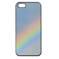 Rainbow Apple iPhone 5 Seamless Case (Black)