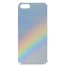 Rainbow Apple iPhone 5 Seamless Case (White)