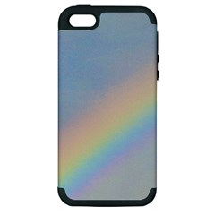 Rainbow Apple Iphone 5 Hardshell Case (pc+silicone)