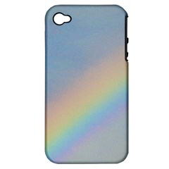 Rainbow Apple iPhone 4/4S Hardshell Case (PC+Silicone)