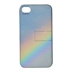 Rainbow Apple iPhone 4/4S Hardshell Case with Stand