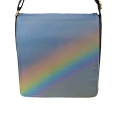 Rainbow Flap Closure Messenger Bag (large)