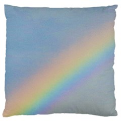 Rainbow Large Flano Cushion Case (Two Sides)