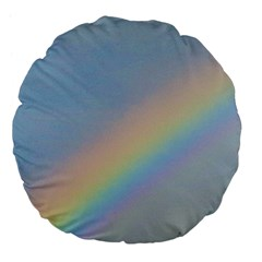 Rainbow Large 18  Premium Flano Round Cushion