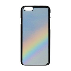 Rainbow Apple iPhone 6 Black Enamel Case