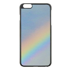 Rainbow Apple iPhone 6 Plus Black Enamel Case