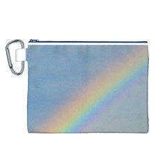 Rainbow Canvas Cosmetic Bag (large)