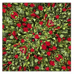 Floral Collage Print Large Satin Scarf (Square)