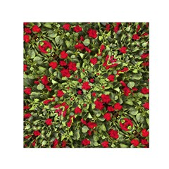 Floral Collage Print Small Satin Scarf (Square)
