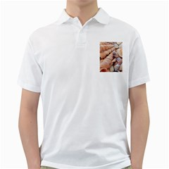 Seashells 3000 4000 Men s Polo Shirt (White)