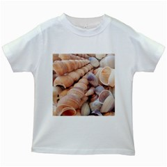 Seashells 3000 4000 Kids T-shirt (White)