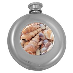Seashells 3000 4000 Hip Flask (Round)