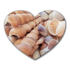 Seashells 3000 4000 Mouse Pad (heart)