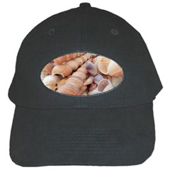 Sea Shells Black Baseball Cap