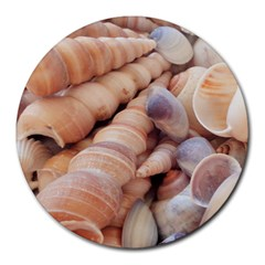 Sea Shells 8  Mouse Pad (round)