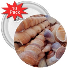 Sea Shells 3  Button (10 Pack)