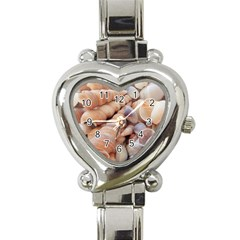 Sea Shells Heart Italian Charm Watch