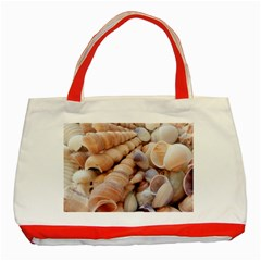 Sea Shells Classic Tote Bag (Red)