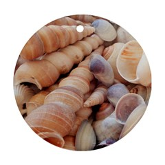 Sea Shells Round Ornament (Two Sides)