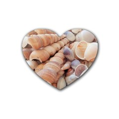 Sea Shells Drink Coasters 4 Pack (heart)